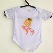Body Bebê Infantil Menina Fofo Baby Bailarina Cachorrinho