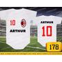 Body Ou Camisetas Times Milan Italia Personalizado