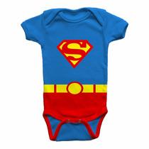 Body Super Homem 100% Algodão Toque Suave Body Divertido
