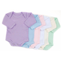 50 Bodys Baby Basic Mc Ml Cores Sortidas Conforto Bebê