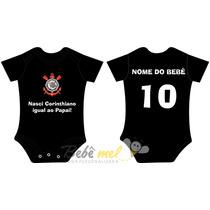 Roupa De Time Para Bebê Personalizada - Corinthians