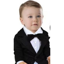 Terno Social Masculino Smoking Bebê Gravata Menino Festa Ele