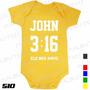Body Evangélico Gospel John 3:16 Infantil Bebê Frases