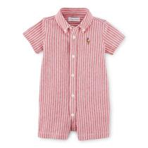 Body Masculino Camisa Listrado Vermelho - Polo Ralph Laur...