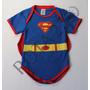 Body Fantasia Superman Com Capa Para Bebês