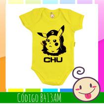 Body Pikachu Pokémon Bebê Criança Estampado Roupinha Barata