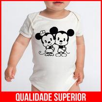 Body Bebe Mickey E Minnie Desenhos Roupas Menina