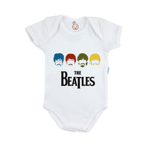 Body Infantil Personalizado Bebê The Beatles Rock Banda Band