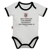 Body Corinthians Bebê Frases Oficial Licenciado Unissex