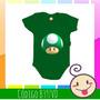 Body Infantil Cogumelo Verde Super Mario Bros Games Bebê