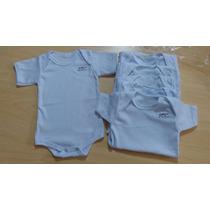 Body Bebê Infantil Branco Malha Manga Curta C/ 6und Atacado