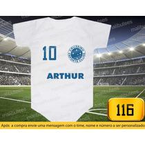Body Ou Camiseta Times Cruzeiro Brasileiro Personalizado
