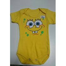 Body Infantil Bebê Bob Esponja