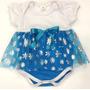 Body Elsa Princesa Frozen Fantasia Vestido Infantil Cosplay
