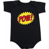 Body De Bebê Ou Camiseta Infantil Frases Pow Soc Batman