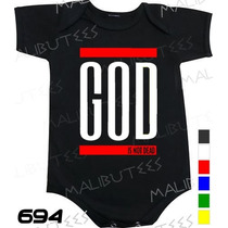 Body Evangélico Gospel God Is Not Dead Infantil Bebê
