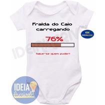 Body Infantil - Fralda Carregando (nome Personalizado)