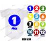 Kit 12 Body Mesversario Bolas Coloridas Números Personalize