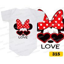 Body Minnie Laço E Óculos Personalizados Infantil Bori Bebê