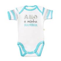 Body Mc Amo A Minha Madrinha Branco Verde - Best Club