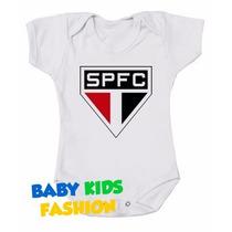 Body Personalizado Bebês Times De Futebol São Paulo Tricolor