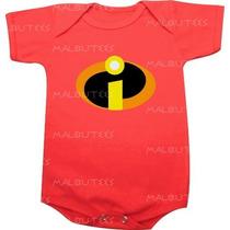 Body Infantil Personalizado Vermelho Super Herois Incriveis