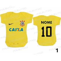 Body Amarelo Do Corinthians Time Futebol Timão Gaviões Fiel