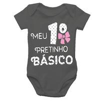 Body De Bebê Divertido - Meu Primeiro Pretinho Básico