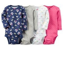 Carters - Kit Body Manga Longa Estampado - 4 Unidades
