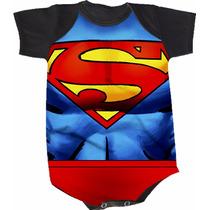 Body Super Homem Superman (bori,body De Bebe,body Infantil)