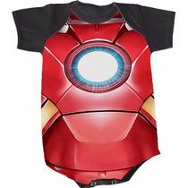 Body Homem De Ferro (bori,body De Bebe,body Infantil)