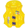 Colete Boia Infantil Inflável Premium Amarelo 2 Fivelas Mor