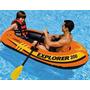 Bote Boia Inflável Explorer 200 Intex 95kg Piscina Rio Mar