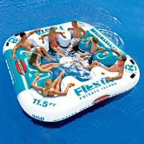 Fiesta Island Ilha Flutuante Inflavel Até 8 Pessoas +cooler