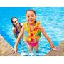 Colete Inflável Flutuador Salva Vidas Boia Infantil Colorido