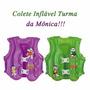 Colete Inflável Infantil Salva Vida Turma Da Monica