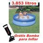 Piscina Intex 3853 Litros Com Bomba De Inflar Std Sbf