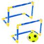 Par Traves Mini Gol Futebol Praia Campo + Bola Bel Fix 48810