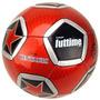 Bola De Futebol De Couro Sintético Vermelho Metálico