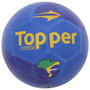 Bola Futebol De Campo Oficial Topper Kv Brasil Azul Amarelo