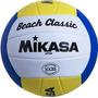 Bola Volei De Praia Mikasa Vx20 Couro Aprovada Pela Cbv + Nf