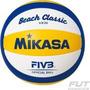 Bola Volei De Praia Oficial Couro Sintetico Vx30 Mikasa