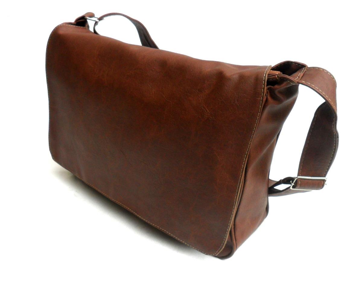 Bolsa De Couro Masculina Fortaleza : Bolsa carteiro masculina couro sint?tico caramelo