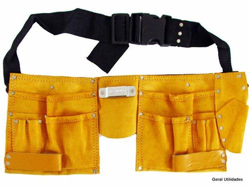 Bolsa Em Couro Para Ferramentas : Bolsa cinto para ferramentas eletricista em couro