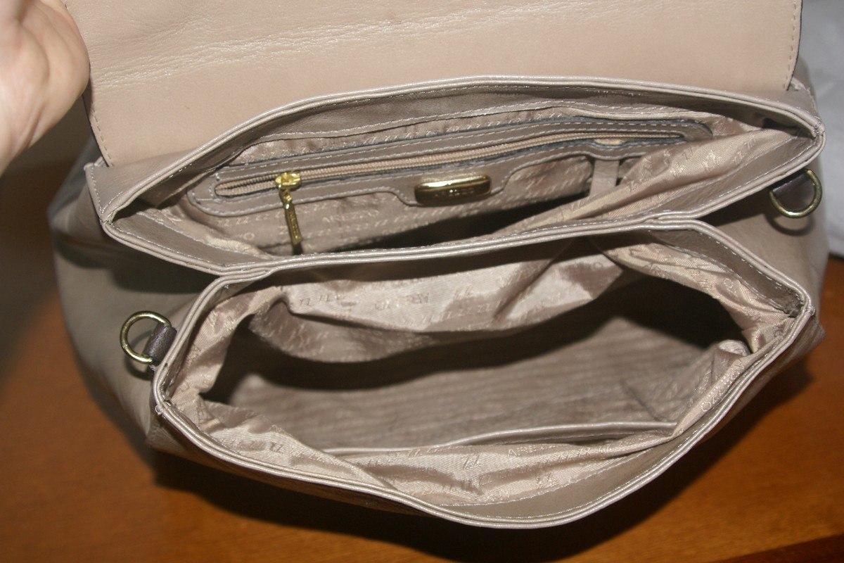 Bolsa De Mão Arezzo : Bolsa de m?o arezzo couro bege marrom nunca usada r