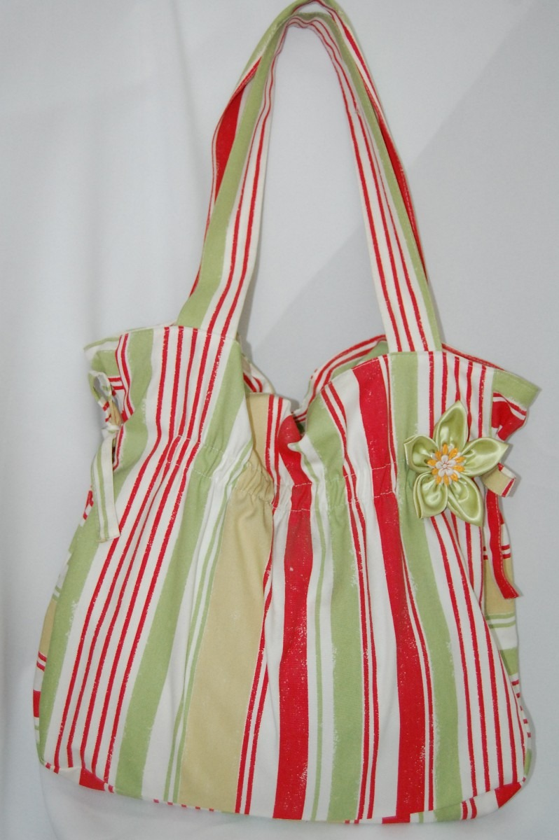 Bolsa Feminina Em Tecido : Bolsa feminina listrada de tecido car interior design