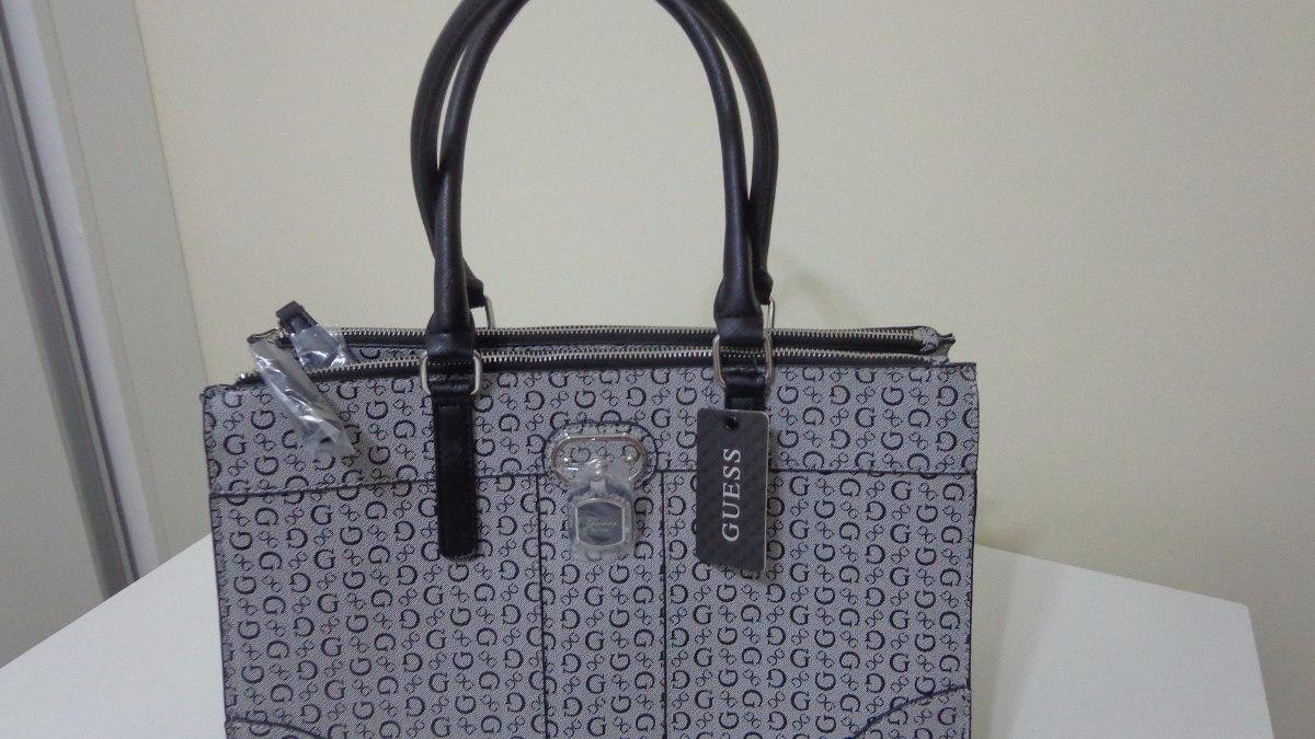 Bolsa Feminina De Couro Guess : Bolsa feminina da guess cor cinza couro original r
