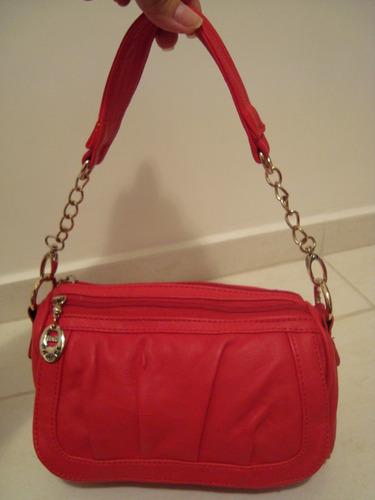 Bolsa Dourada Com Corrente : Bolsa pequena ombro al?a corrente dourada pink ou vermelha