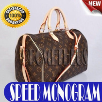 Bolsa Baú Speedy 30 Monogram Couro Legítimo