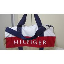Bolsa De Viagem Tommy Hilfiger Bege Original Pronta Entrega